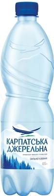 """Вода минеральная """"Карпатська Джерельна"""" сильногазированная, 0,5 л"""