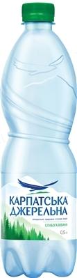 """Вода минеральная """"Карпатська Джерельна"""" слабогазированная, 0,5 л"""
