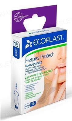 Пластир медичний Ecoplast Допомога при герпесі з олією чайного дерева, 15 штук