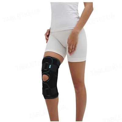 Бандаж (ортез) на коленный сустав Алком 3052 разъемный, цвет черный, размер 5