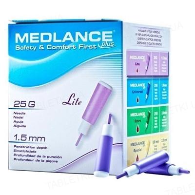 Ланцеты Medlance Plus Lite медицинские стерильные G25 (фиолетовый), 200 штук