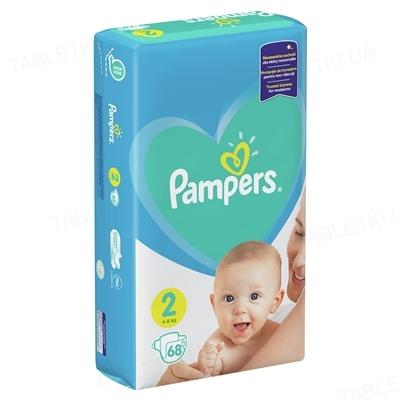 Підгузки дитячі Pampers New Baby розмір 2, 4-8 кг, 68 штук