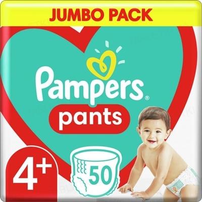 Подгузники-трусики детские Pampers Pants размер 4+, 9-15 кг, 50 штук