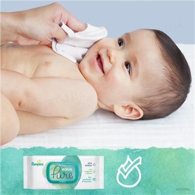 Салфетки влажные детские Pampers Aqua Pure 2 x 48 штук