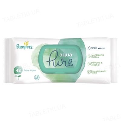 Серветки вологі дитячі Pampers Aqua Pure 48 штук