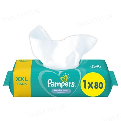 Серветки вологі дитячі Pampers Sensitive 80 штук
