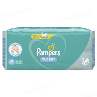 Серветки вологі дитячі Pampers Fresh Clean 2 х 52 штук