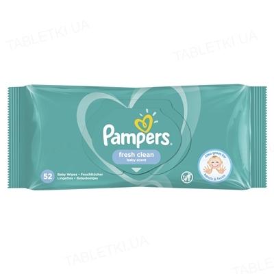 Серветки вологі дитячі Pampers Fresh Clean 52 штуки