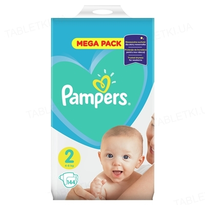 Підгузки дитячі Pampers Active Baby розмір 2, 4-8 кг, 144 штуки