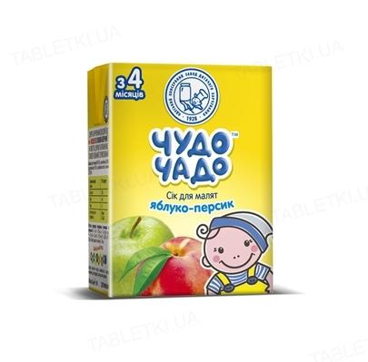 Сок фруктовый Чудо-Чадо яблочно-персиковый с мякотью и сахаром, 200 мл