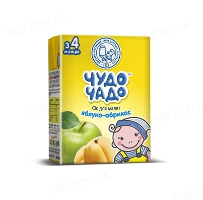 Сок фруктовый Чудо-Чадо яблочно-абрикосовый с мякотью и сахаром, 200 мл