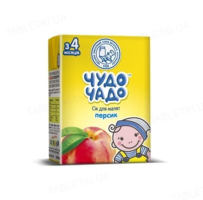 Сок фруктовый Чудо-Чадо персиковый с мякотью, сахаром и витамином С, 200 мл