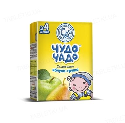 Сок фруктовый Чудо-Чадо яблочно-грушовый с мякотью и сахаром, 200 мл