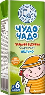 Сок фруктовый Чудо-Чадо яблочный неосветленный стерилизированный,  200 мл