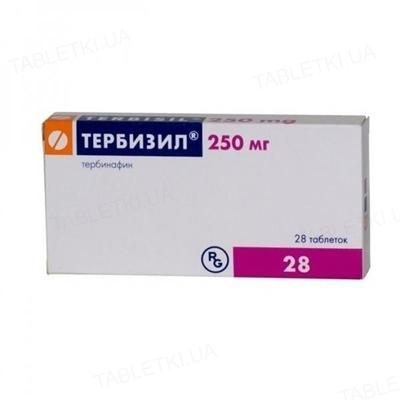 Тербизил таблетки по 250 мг №28 (14х2)