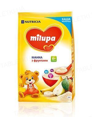 Молочная каша Milupa манная с фруктами для детей от 6 месяцев, 210 г