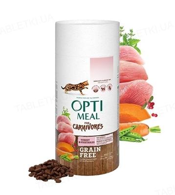 Корм сухой беззерновой для кошек Optimeal утка и овощи, 650 г