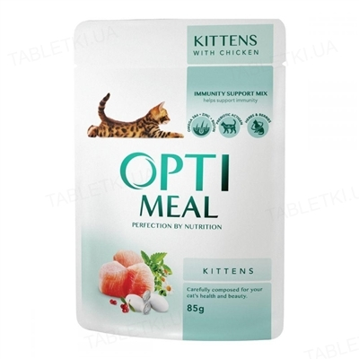 Консерва для кошенят Optimeal з куркою, 85 г