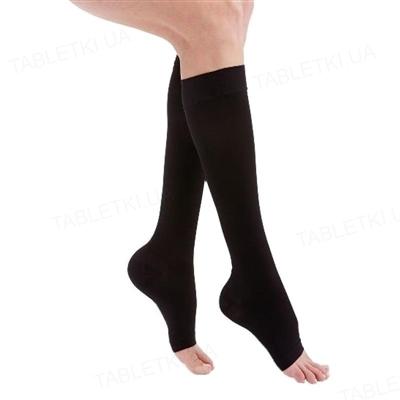 Гольфы компрессионные Medi Mediven Duomed открытый носок, 1 класс компрессии, цвет черный, размер 5