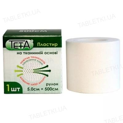 Пластырь медицинский Teta на тканевой основе, катушка, 5 х 500 см, 1 штука