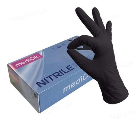 Перчатки смотровые MediOk нитриловые без пудры нестерильные, размер L, 50 пар