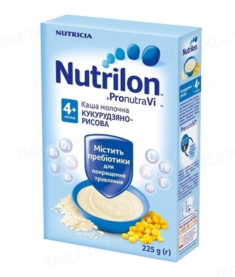 Молочная каша Nutrilon кукурузно-рисовая для детей с 4 месяцев, 225 г