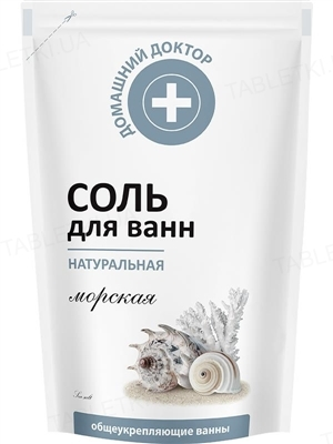 Соль для ванн Домашний Доктор, натуральная морская, 500 мл