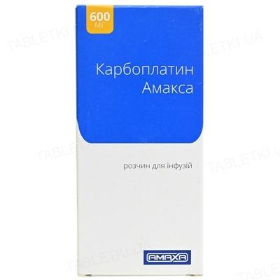 Карбоплатин Амакса раствор д/инф. 10 мг/мл по 60 мл №1 во флак.