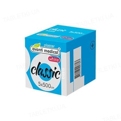 Пластырь медицинский Avanti medical Classic на тканевой основе 5 см х 500 см, белый, катушка, 1 штука