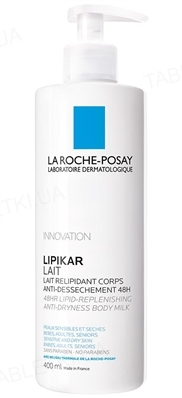 Молочко для тела La Roche-Posay Lipikar липовосстанавливающее, для сухой и очень сухой кожи,  400 мл