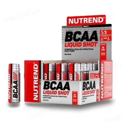 Аминокислота Nutrend BCAA MEGA SHOT, 60 мл