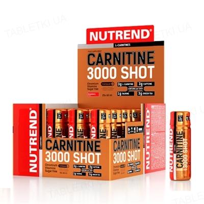 Жиросжигатель Nutrend Carnitine 3000 Shot Апельсин, 60 мл