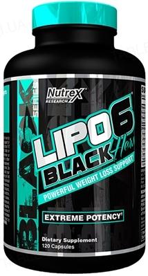Жиросжигатель Nutrex NR Lipo-6 Black Hers Powerfull, 120 капсул