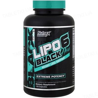 Жиросжигатель Nutrex NR Lipo-6 Black Hers WLS, 120 капсул