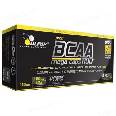 Аминокислота Olimp BCAA 1100 Mega Caps blister, 120 капсул