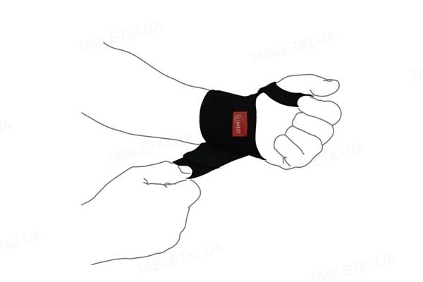 Бандаж на лучезапястный сустав ReМed R8103 UNI эластичный, цвет черный, размер универсальный