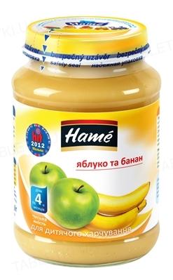 Фруктовое пюре Hame Яблоко и банан, 190 г