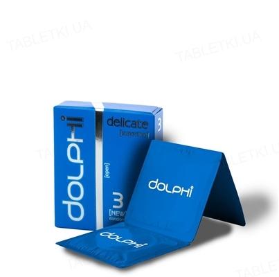 Презервативы Dolphi Lux Delicate особенно тонкие, 3 штуки