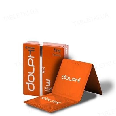 Презервативы Dolphi Lux Fire с разогревающим эффектом для женщин, 3 штуки
