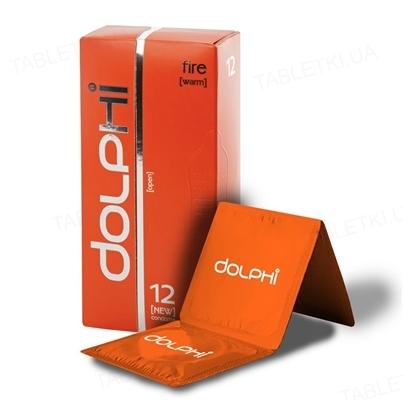 Презервативы Dolphi Lux Fire с разогревающим эффектом для женщин, 12 штук