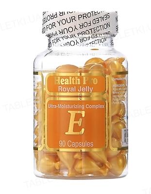Комплекс HealthPro Royal Jelly увлажнение для лица и шеи с маточным молочком и витамином Е капсулы №90