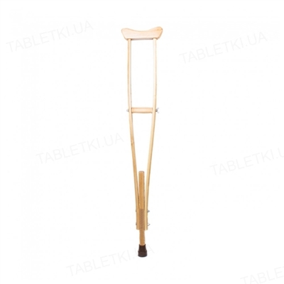 Костыль подмышечный Medok MED-02-001 деревянный регулируемый по высоте двухстоечный, размер S
