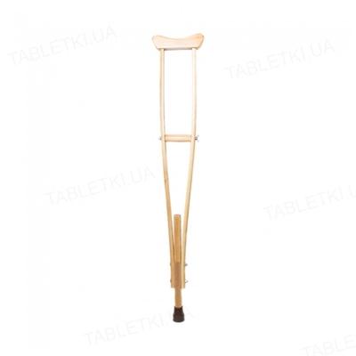 Костыль подмышечный Medok MED-02-002 деревянный регулируемый по высоте двухстоечный, размер M