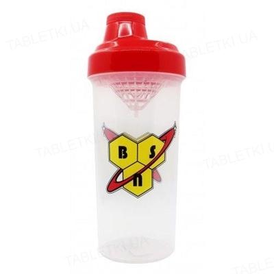 Шейкер BSN Shaker bottle Прозрачный с красным, 750 мл