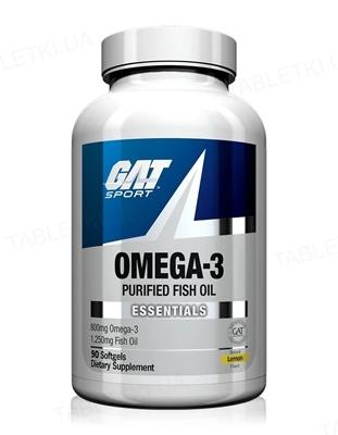 Омега-3 GAT 1250 cocentrate Lemon, 90 капсул