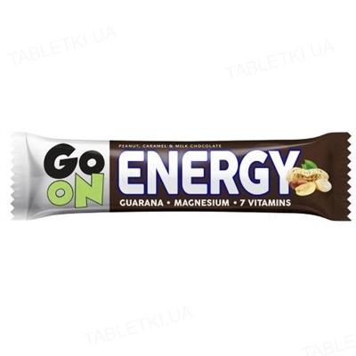 Батончик GO ON Nutrition Energy Snickers + Guarana Шоколад с арахисом, 50 г