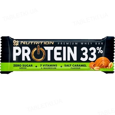 Батончик GO ON Nutrition Protein Bar 33% Salt Caramel, 50 г