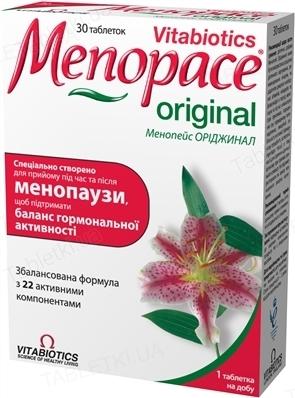 Менопейс Ориджинал таблетки №30 (15х2)