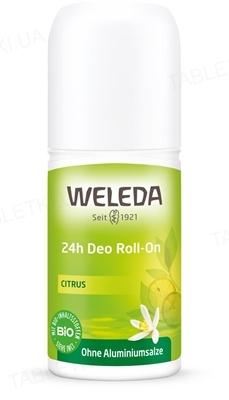 Дезодорант Weleda Roll-On 24 години, Цитрус, 50 мл