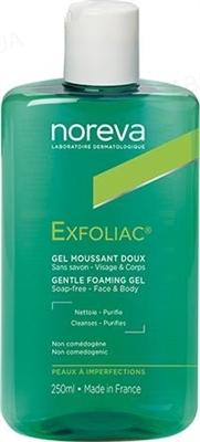 Гель Noreva Exfoliac для лица и тела, очищающий для проблемной кожи, 250 мл